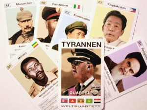 Tyrannen - ein Spiel von Weltquartett; Foto: urb