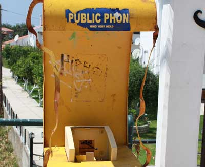 Marodes Telefon in Griechenland